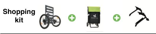 Addbike kit med Shopping kit